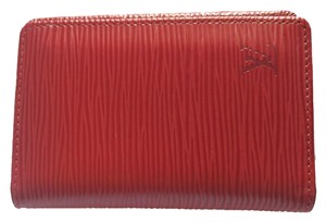 Louis Vuitton Red Epi Leather Card holder