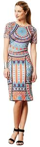 Anthropologie Geometric Stretchy Dress