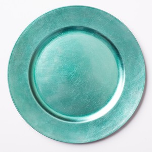 84 13 In. Turquoise Charger Plates