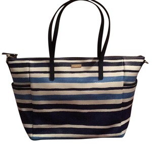 Kate Spade Blue And White Diaper Bag