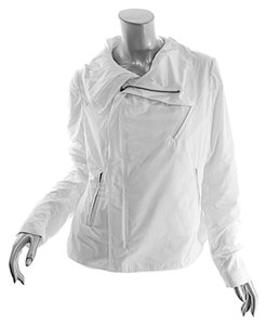 Peter O' Mahler O Water Repellent Asymetrical Spring White Jacket