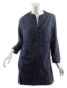 Vince Denim Cotton Blend Tunic