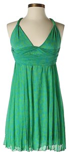 Diane von Furstenberg short dress Green & Blue Silk Print Sweetheart Halter on Tradesy