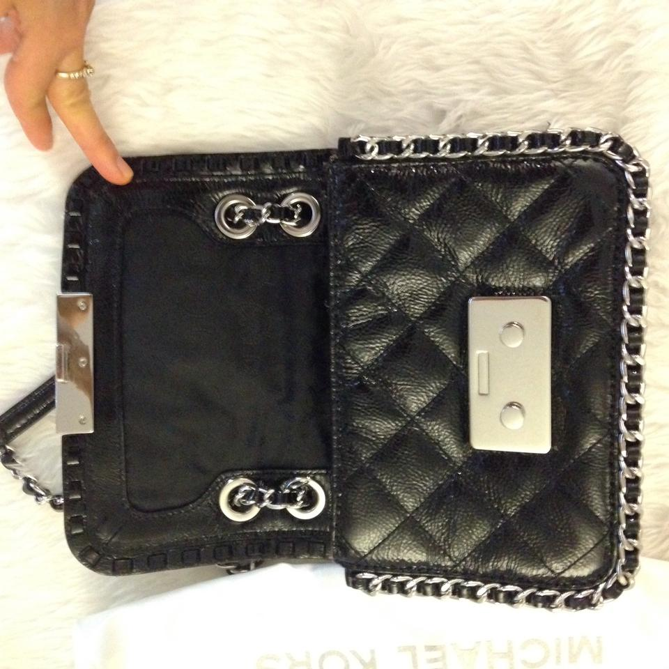 c1bc8cde0e3 MICHAEL Michael Kors Like New Small Chain-strap Wallet Back Leather Cross  Body Bag 46% off retail