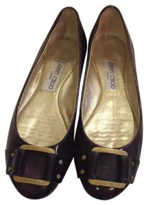 Jimmy Choo Is Neutral Different All Year Round Buckles Purple Flats