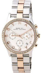 Marc by Marc Jacobs Marc Jacobs Women's MBM3106 Two-tone 'Henry' Crystal Accent Chronograph Watch