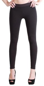 Nikibiki Basket Weave Outfit Style Charcoal Gray Leggings