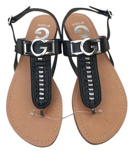 Guess G By Lurrela T-strap Black Sandals