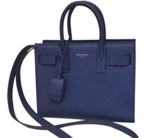 Saint Laurent Ysl Sac De Jour Ysl Tote in Blue/ vieux blue