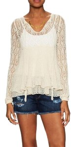 Free People Lace Vintage Looking Lightweight Sweater