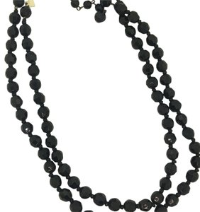 Glass black stoned pearl Necklace