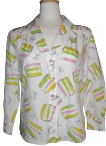 Chanel Button Down Shirt Multi-Pastel