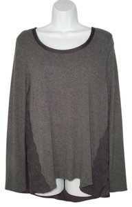 Anthropologie Knit Rayon Lace A-line Anthro T Shirt