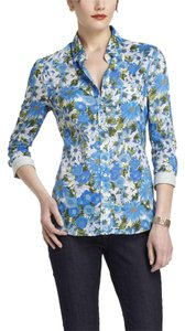 Anthropologie Cotton Floral Hd In Paris Casual Button Down Shirt