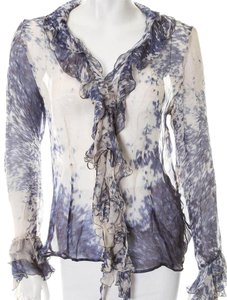 Roberto Cavalli Top Blue White