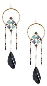 Eye Candy Los Angeles Eye Candy Los Angeles Feather Drop Earrings Bronze