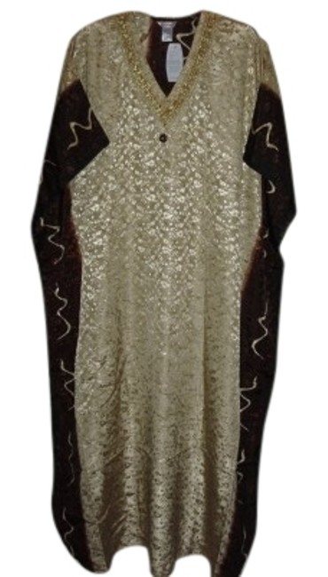 Preload https://item4.tradesy.com/images/brown-on-gold-long-casual-maxi-dress-size-os-one-size-168273-0-1.jpg?width=400&height=650