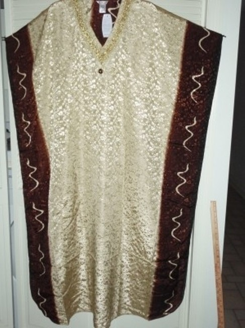 brown on gold Maxi Dress by Bella Maya