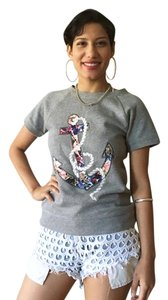 J.Crew J Crew Anchor Sailor T Shirt grey, floral