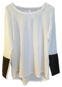 Club Monaco Longsleeve Unworn Top white, black