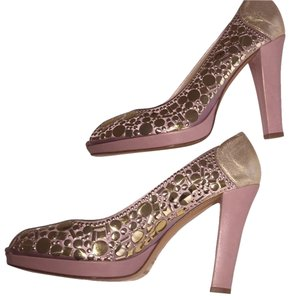 Gianni Meliani Gold Hardware Pink Pumps