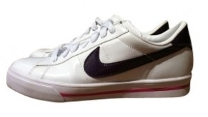 Nike white/purple/pink Athletic