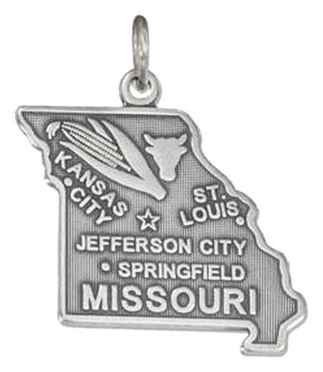 Unknown STERLING SILVER ANTIQUED MISSOURI STATE CHARM