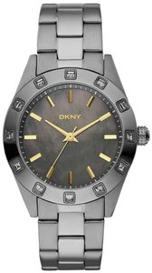DKNY DKNY NY8662 Glitz Gun IP Watch with Mother of Pearl Face