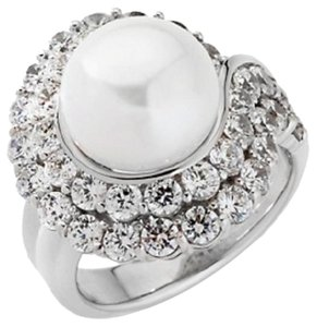 Jean Dousset Jean Dousset 6.08ct Absolute Cultured Pearl Sterling Wrap Ring