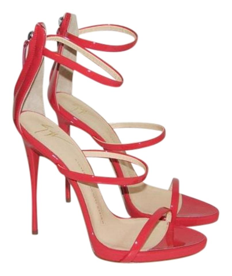 a685b5d1f59 Giuseppe Zanotti Red Patent Leather Harmony Three Strap Sandals Size EU 40  (Approx. US 10) Regular (M, B) 33% off retail