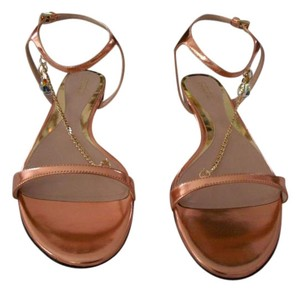 Sebastian Milano Color Sophisticated Design Crystal Accented Made In Italy Bronze Cafe Sandals