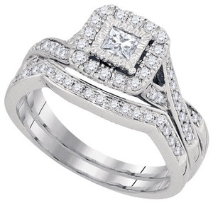 White Gold | Diamond Luxury Designer 14k 0.61 Cttw Set Engagement Ring