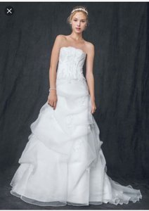 David's Bridal Organza Corset With Beaded Lace Appliques / Style: V9263 Wedding Dress