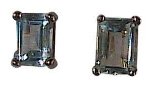 Other Sterling Silver Blue Topaz Stud Pierced Earrings
