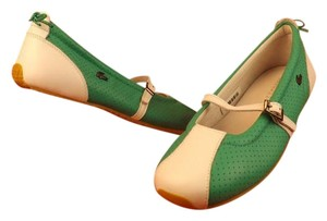 Lacoste Green/White Flats