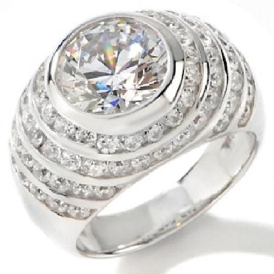 Jean Dousset Jean Dousset 4.52ct Absolute Sterling Graduated Channel Ring Image 1