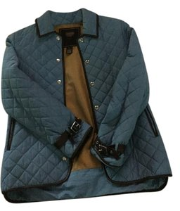Coach Blue with Brown Leather trim Jacket