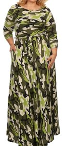 Green Maxi Dress by Maxi Plus Size