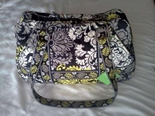 Vera Bradley Organized Modern Washable Quilted Green Black Shoulder Bag