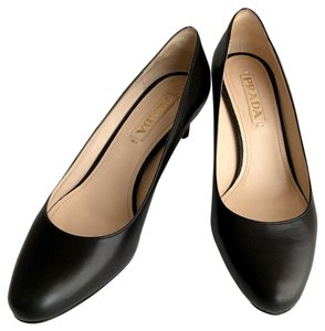 Prada Heels Leather Heels Leather Heels Low Heels Low Black Pumps
