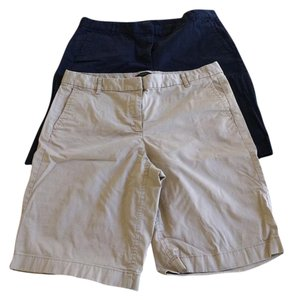 J.Crew Bermuda Shorts Tan and Navy