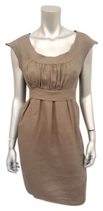 CP Shades short dress Olive Green Linen Belted Tunic Summer Cap Sleeves on Tradesy