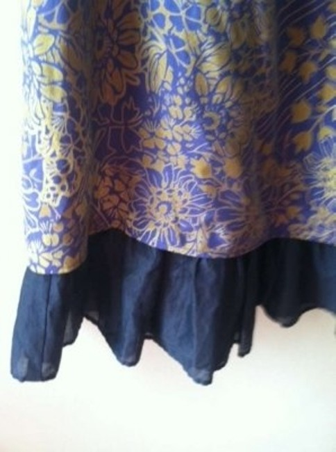 Free People short dress Purple & Iridescent Gold Beachy Ruffle Flounce on Tradesy