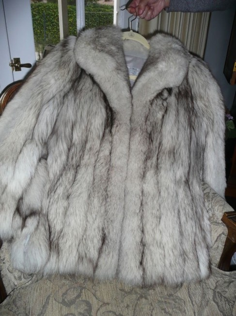 Saga Furs Fox Jacket Amber Frost Fox Fur Coat