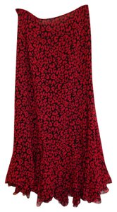 Dana Buchman Skirt Black and red