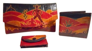 Other vintage western theme leather wallet set