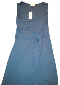 Ann Taylor LOFT short dress Cobalt Blue New With Tags Stretch Wrap on Tradesy