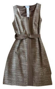 Akris Punto Belted Textured Chic Dress
