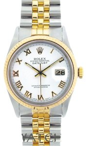 Rolex MEN'S ROLEX DATEJUST 2-TONE WITH WHITE DIAL WITH ROLEX BOX & APPRAISAL