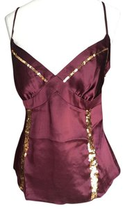 Guess Jeans Sequin Cami Top Wine Burgundy